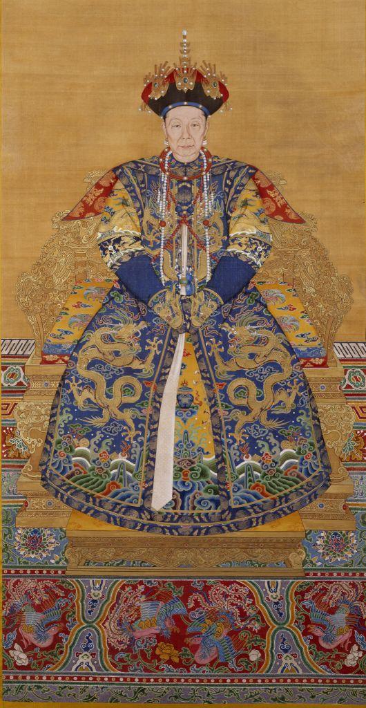 清人画孝圣宪皇后朝服像